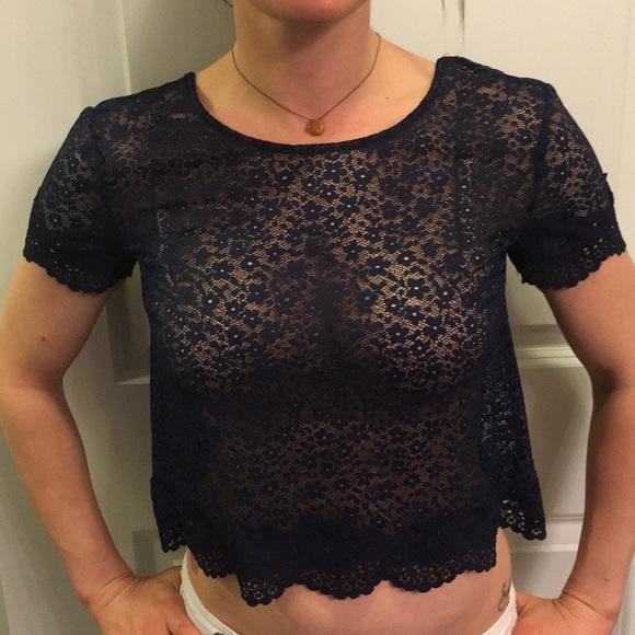 543478f3cfb Victoria's Secret Tops   Victoria Secret Lace Crop Top   Poshmark
